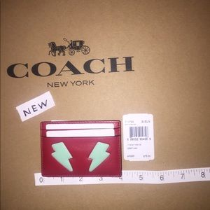 NWT Coach Lightening Bolt Credit Card Case